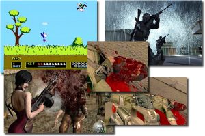 First Person Shooters, or Point of View (POV) simulations can disconnect, or further disconnect malleable minds from reality. (Click to Enlarge)