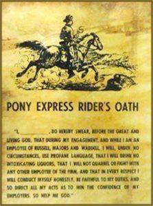 Pony Express Oath